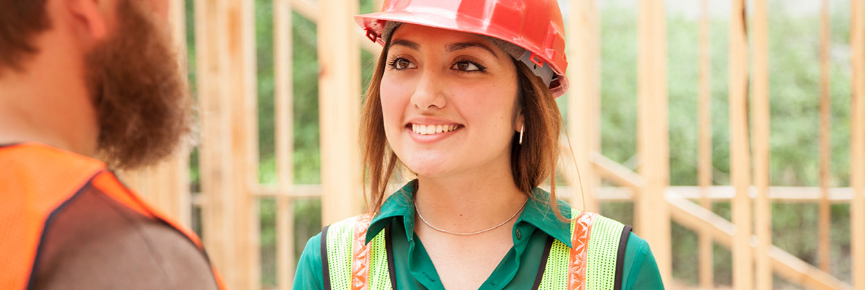 Construction worker with hearing loss